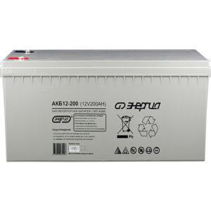 Аккумулятор для ИБП AGM Энергия АКБ 12В-200 А/Ч (Фото)