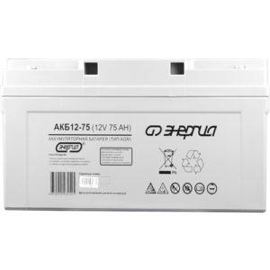 Аккумулятор для ИБП AGM Энергия АКБ 12В-75 А/Ч (Фото)